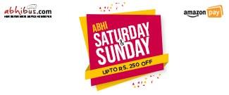 Abhi Saturday & Sunday - Upto Rs.250 Off on Bus Booking