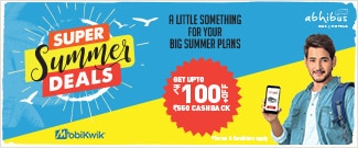 Upto Rs.100 Off + Rs.550 Cash Back on Bus Booking with Mobikwik