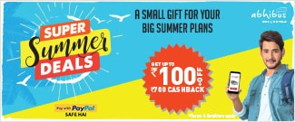 Super Summer Deals - Upto Rs.100 Off + Rs.700 Cash Back on Bus Booking using PayPal