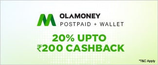 Upto Rs.200 Cash Back from OLA Money Postpaid