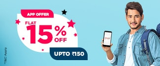 Flat 15%  Discount on Bus Booking for New Users on APP