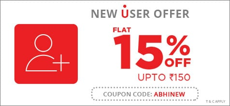 Flat 15% Off Upto Rs.150 Discount on Bus Booking for New Users