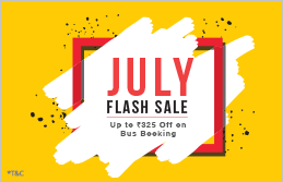 July Flash Sale - Upto Rs.325 Off on Bus Booking using Amazon Pay