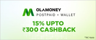 Upto Rs.300 Cash Back from OLA Money Postpaid