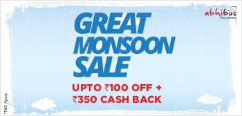 Great Monsoon Sale - Upto Rs.100 Off + Rs.350 Cash Back on Bus Booking