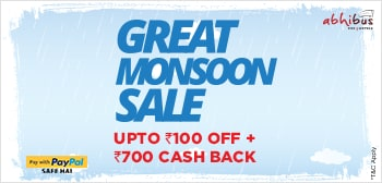 Great Monsoon Sale - Upto Rs.100 Off + Rs.700 Cash Back on Bus Booking using PayPal