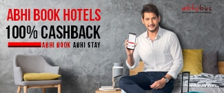 Abhi Book Hotels - Get 100% Upto Rs.1000 Cash Back on Hotel Booking