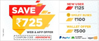 Upto Rs.725 on Bus Booking for New Users on Web and APP