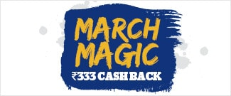 Flat Rs.333 Cash Back on Bus Bookings