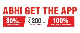 Get discounts Upto Rs 200/- for new app downloads and new user booking.